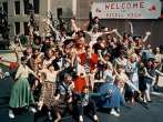 "A Shot of the Rydell High Pep Rally in ""Grease"""